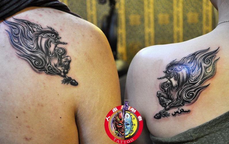 纹身刺青可爱小天马