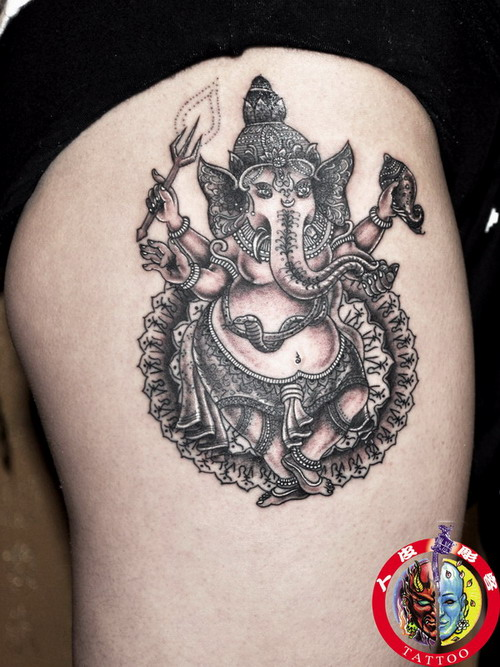 泰国象神纹身手稿图案大全展示