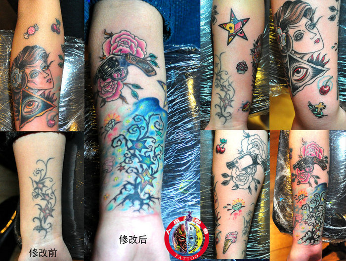 欧美小臂纹身手稿图片展示